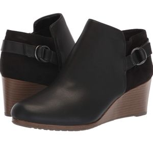 Dr Scholl's Kepler Ankle Boots Black Wedge Booties